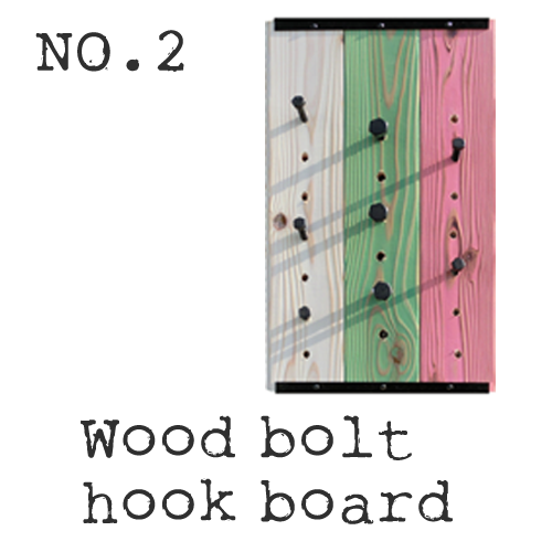 Wood bolt hook board